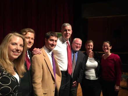 Teach Kentucky teachers with then U.S. Secretary of Education, Arne Duncan in April 2015.