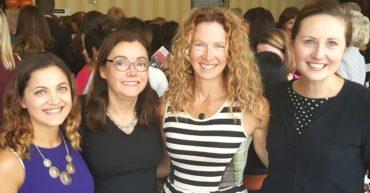 Teach Kentucky's female staff members at the 2016 Women 4 Women annual luncheon.L-R: Isabel Lake, Board chair Sandra Hinojosa Hubbard, Elizabeth Mays, Rebecca Barnwell
