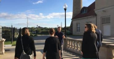 TKY educators tour the grounds of the Louisville Water Tower and Museum.
